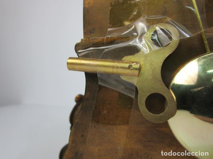 Relojes de carga manual: Reloj de Sobremesa - Estilo Imperio - Bronce - Hiladora - Completo - Funciona - S.XIX - Foto 10 - 210752075