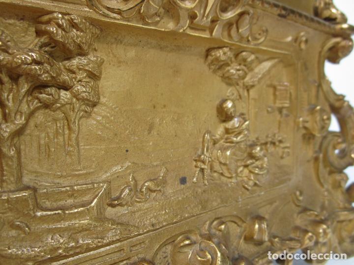 Relojes de carga manual: Reloj de Sobremesa - Estilo Imperio - Bronce - Hiladora - Completo - Funciona - S.XIX - Foto 14 - 210752075