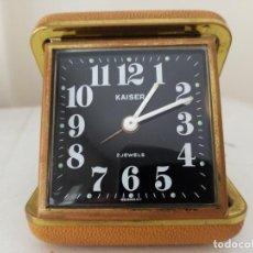 Relojes de carga manual: RELOJ DE SOBREMESA DE VIAJE KAISER GERMANY MECANICO. Lote 211471522