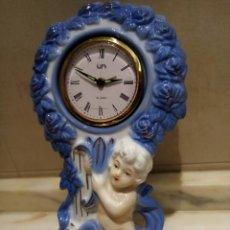 Relojes de carga manual: RELOJ DE SOBREMESA DE PORCELANA MECANICO. Lote 211479615