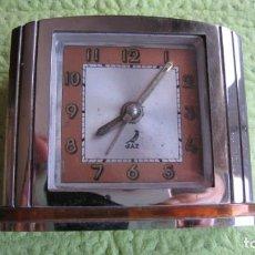 Relojes de carga manual: ANTIGUO RELOJ MODERNISTA DE SOBREMESA DESPERTADOR FUNCIONA PERFECTAMENTE. Lote 211633402
