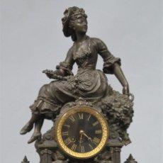 Relojes de carga manual: ANTIGUO RELOJ DE CALAMINA PATINADA. P. JAPY. FUNCIONA. SIGLO XIX. Lote 211784691