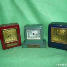 Relojes de carga manual: RARO LOTE RELOJ HUCHA BANCO SANTANDER TORRELAVEGA CAJA DE AHORROS NIZA MONTECARLO. Lote 212790505