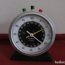 Relojes de carga manual: ANTIGUO Y CURIOSO GRAN CRONÓMETRO DE MESA MECÁNICO ALEMÁN FABRICADO EN LOS AÑOS 50 O 60 Y FUNCIONA. Lote 213271115
