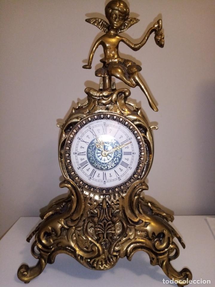 RELOJ DE SOBREMESA DE BRONCE A CUERDA WEST GERMANY (Relojes - Sobremesa Carga Manual)