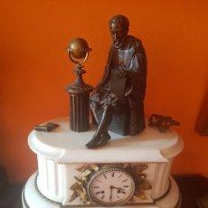 Relojes de carga manual: RELOJ ROBLIN ANTIGUO DE BRONCE Y MARMOL. Lote 213998487