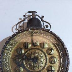 Relógios de carga manual: ANTIGUO RELOJ DE SOBREMESA, REALIZADO EN LATÓN. Lote 215059706