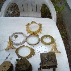 Relojes de carga manual: PRECIOSO LOTE DE FORNITURAS PARA RELOJES DE SOBREMESA VER DESCRIPCCIO,N Y FOTOS. Lote 215132016