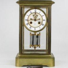 Relojes de carga manual: HORLOGES - RELOJ DE SOBRE MESA CON PÉNDULO DE MERCURIO. REVISADO Y EN FUNCIONAMIENTO. 35,5X21 CM.. Lote 216551990