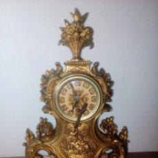 Relojes de carga manual: RELOJ DE SOBREMESA SOBRE BASE DE MARMOL MECANICO. Lote 216593346