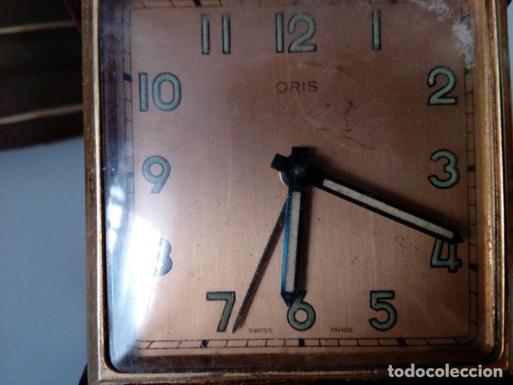Relojes de carga manual: RELOJ DESPERTADOR DE VIAJE DE SOBREMESA ORIS SWISS MADE MECANICO - Foto 2 - 216595806