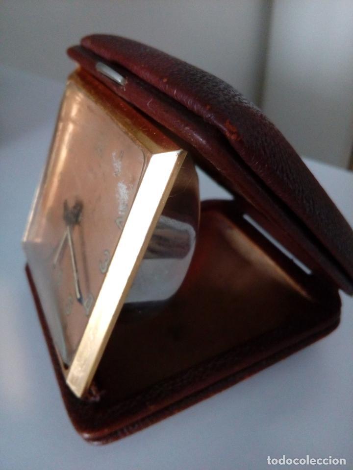 Relojes de carga manual: RELOJ DESPERTADOR DE VIAJE DE SOBREMESA ORIS SWISS MADE MECANICO - Foto 4 - 216595806