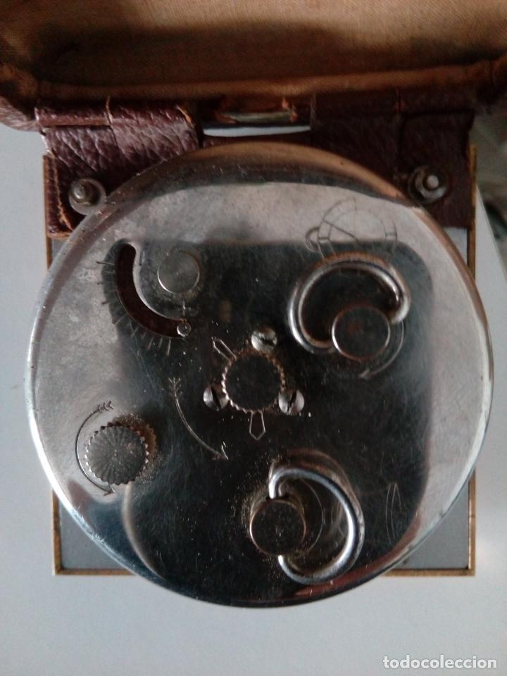 Relojes de carga manual: RELOJ DESPERTADOR DE VIAJE DE SOBREMESA ORIS SWISS MADE MECANICO - Foto 6 - 216595806
