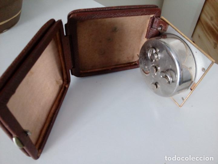 Relojes de carga manual: RELOJ DESPERTADOR DE VIAJE DE SOBREMESA ORIS SWISS MADE MECANICO - Foto 7 - 216595806
