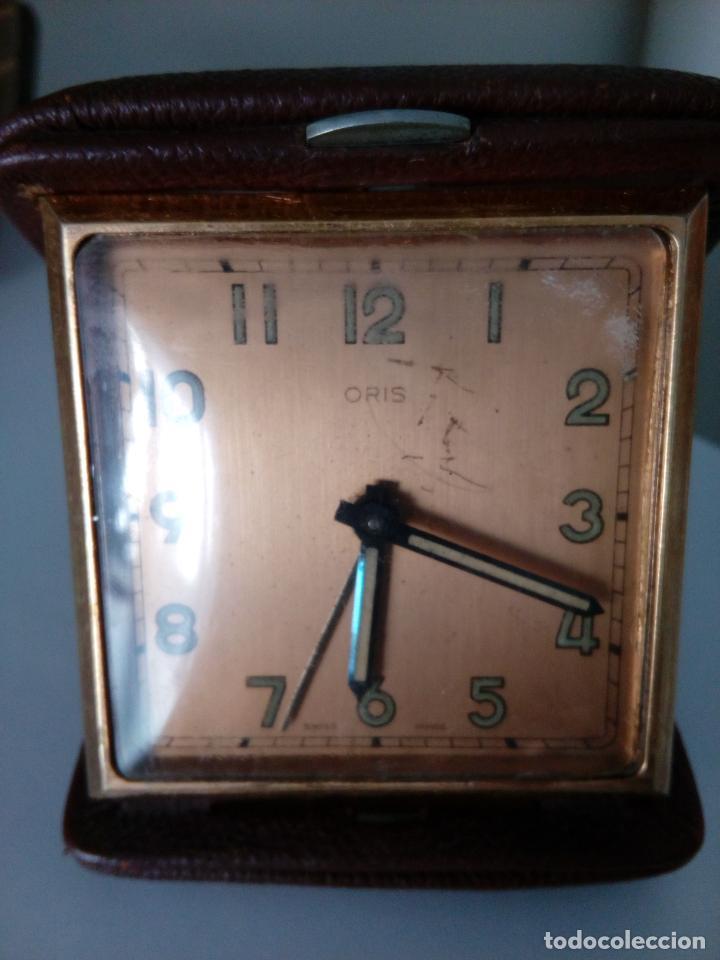 RELOJ DESPERTADOR DE VIAJE DE SOBREMESA ORIS SWISS MADE MECANICO (Relojes - Sobremesa Carga Manual)