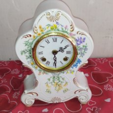 Relojes de carga manual: IMPRESIONANTE RELOJ ALEMÁN DE PORCELANA SONERÍA DE CAMPANA FUNCIONA. Lote 217717898