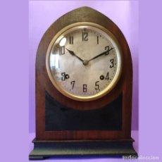 Relojes de carga manual: ANTIGUO RELOJ SOBREMESA O CHIMENEA TIPO CAPILLA / SIGLO XIX / SONERÍA SOBRE GONG / 7 DÍAS / FUNCIONA. Lote 217835026