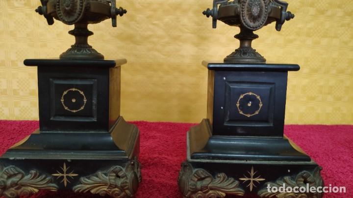 Relojes de carga manual: GUARNICIÓN DE RELOJ Y DOS CANDELABROS CUATRO LUCES SIGLO XIX, 6000-201 - Foto 22 - 43452509