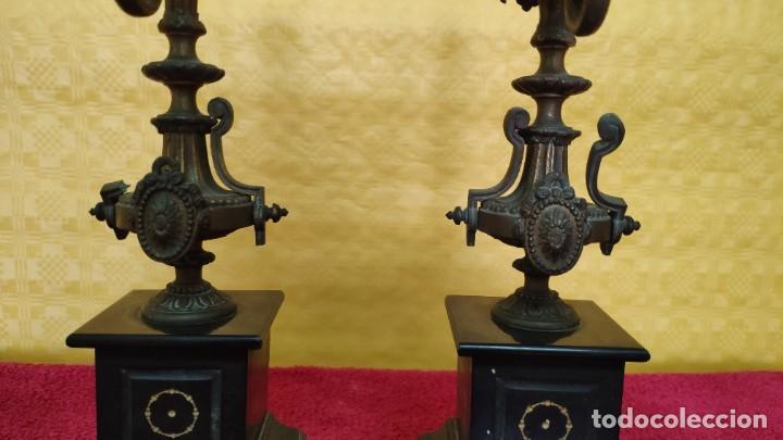 Relojes de carga manual: GUARNICIÓN DE RELOJ Y DOS CANDELABROS CUATRO LUCES SIGLO XIX, 6000-201 - Foto 23 - 43452509