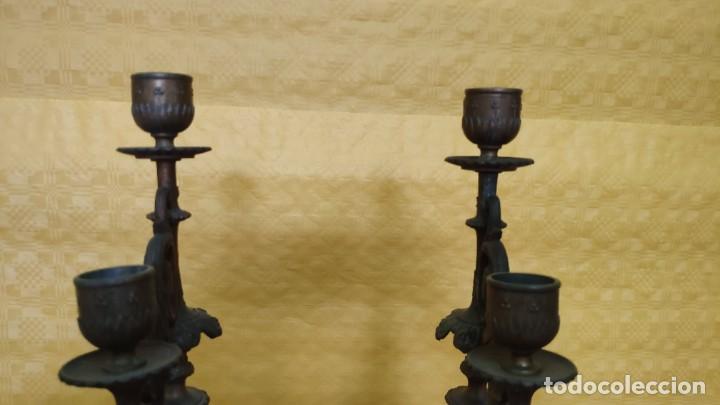Relojes de carga manual: GUARNICIÓN DE RELOJ Y DOS CANDELABROS CUATRO LUCES SIGLO XIX, 6000-201 - Foto 25 - 43452509