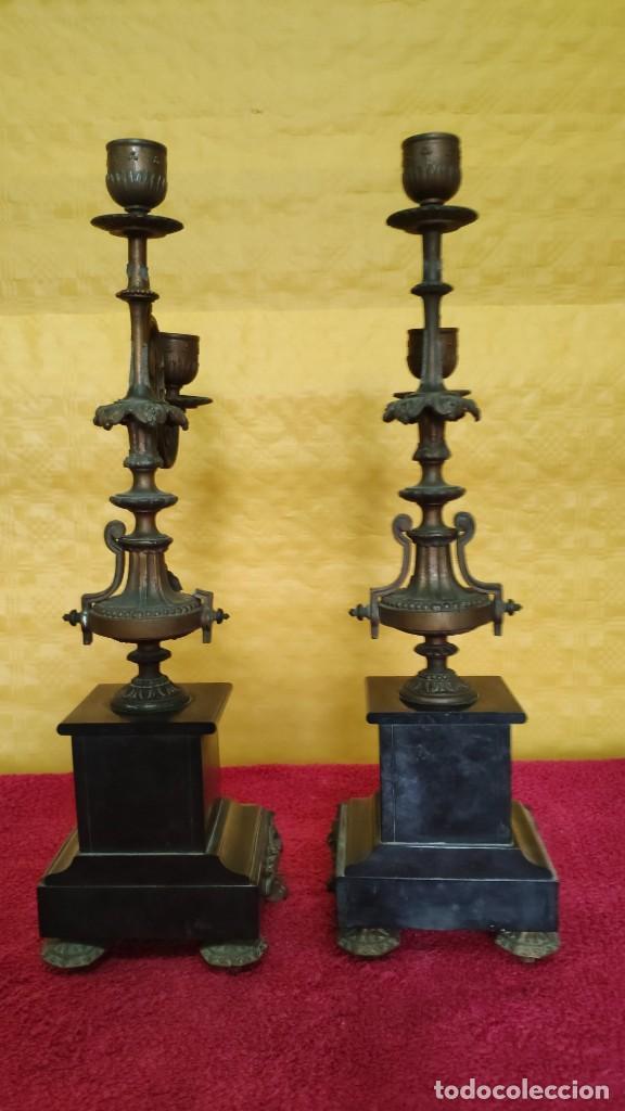 Relojes de carga manual: GUARNICIÓN DE RELOJ Y DOS CANDELABROS CUATRO LUCES SIGLO XIX, 6000-201 - Foto 27 - 43452509