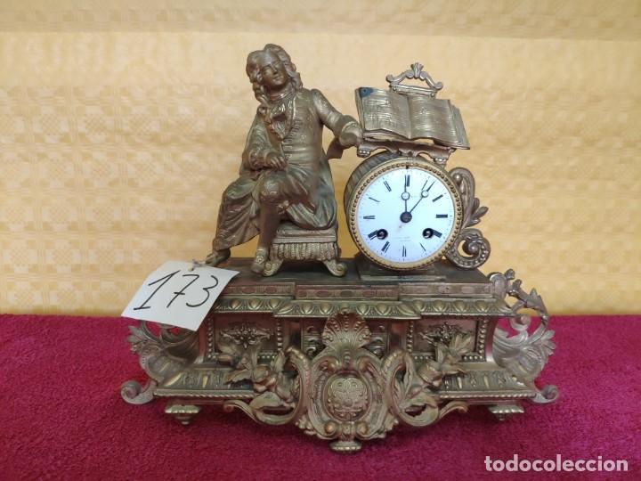 RELOJ DE SOBREMESA DE ESTILO FRANCÉS SIGLO XIX, 6000-173 (Relojes - Sobremesa Carga Manual)