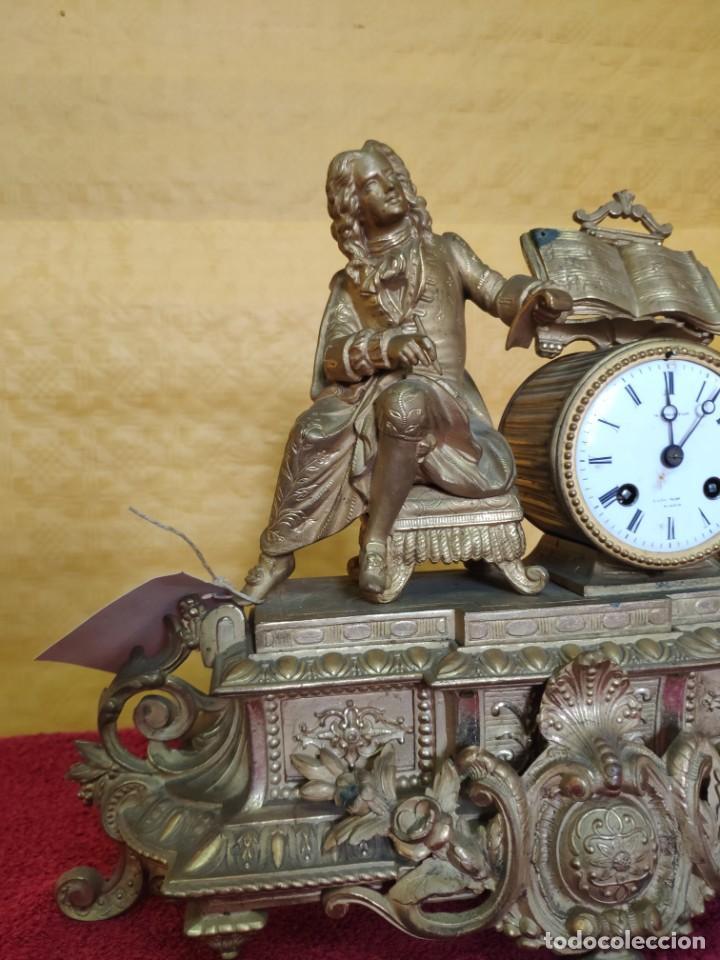 Relojes de carga manual: RELOJ DE SOBREMESA DE ESTILO FRANCÉS SIGLO XIX, 6000-173 - Foto 9 - 45678485