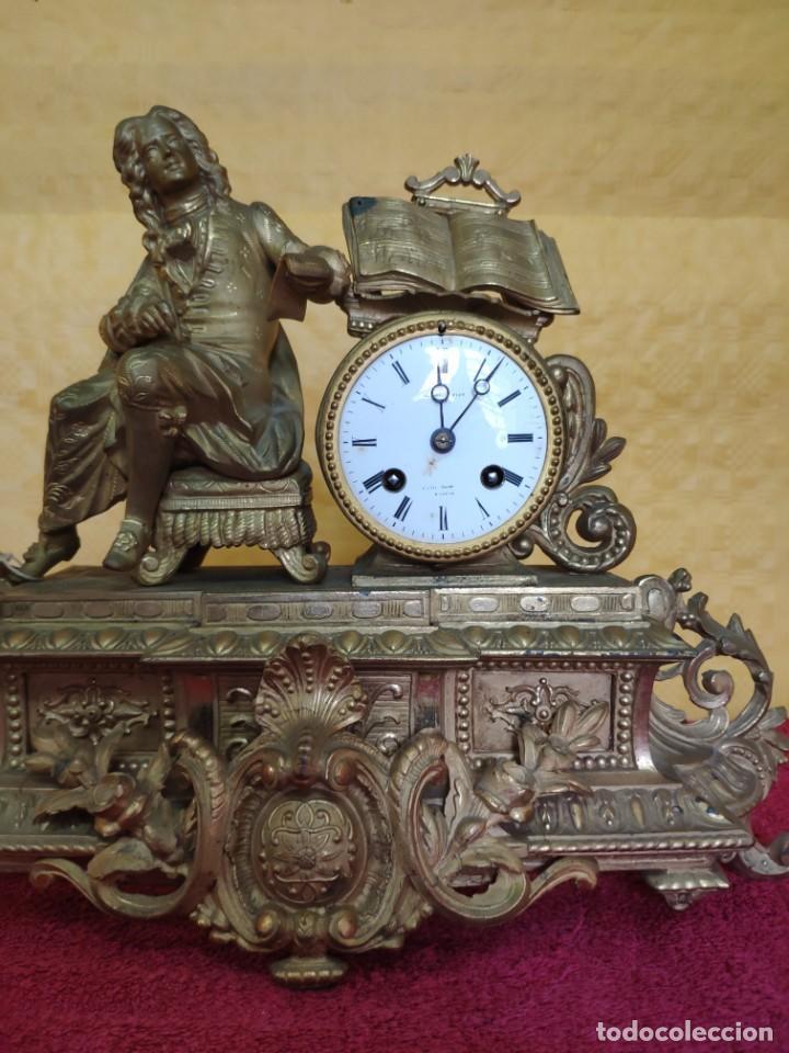 Relojes de carga manual: RELOJ DE SOBREMESA DE ESTILO FRANCÉS SIGLO XIX, 6000-173 - Foto 10 - 45678485