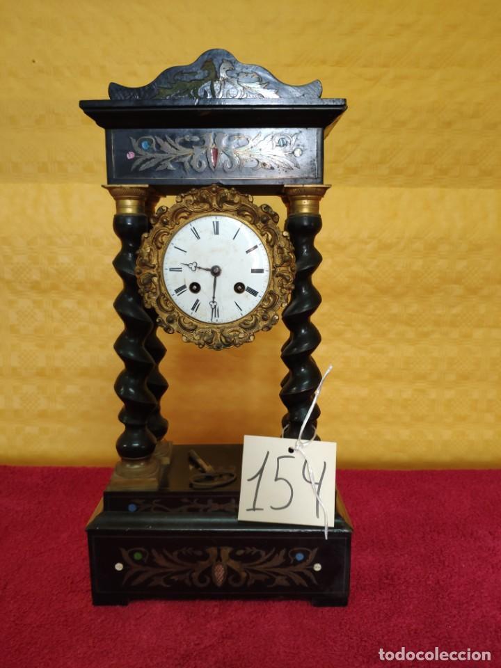 RELOJ DE PÓRTICO DE SOBREMESA ESTILO NAPOLEÓN III, 6000-154 (Relojes - Sobremesa Carga Manual)