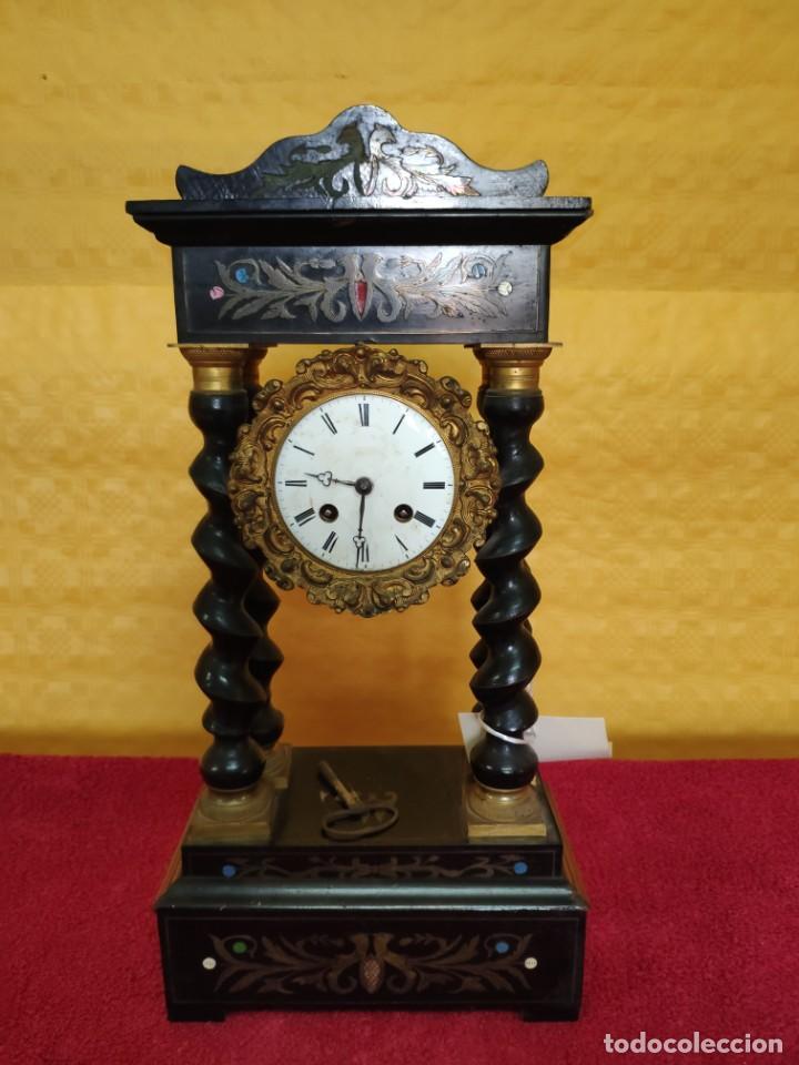 Relojes de carga manual: RELOJ DE PÓRTICO DE SOBREMESA ESTILO NAPOLEÓN III, 6000-154 - Foto 2 - 43451948