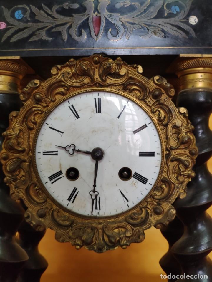 Relojes de carga manual: RELOJ DE PÓRTICO DE SOBREMESA ESTILO NAPOLEÓN III, 6000-154 - Foto 6 - 43451948