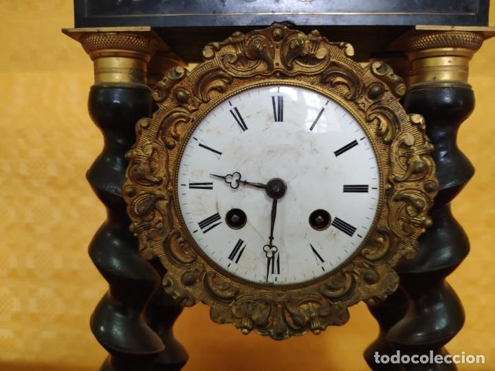 Relojes de carga manual: RELOJ DE PÓRTICO DE SOBREMESA ESTILO NAPOLEÓN III, 6000-154 - Foto 5 - 43451948