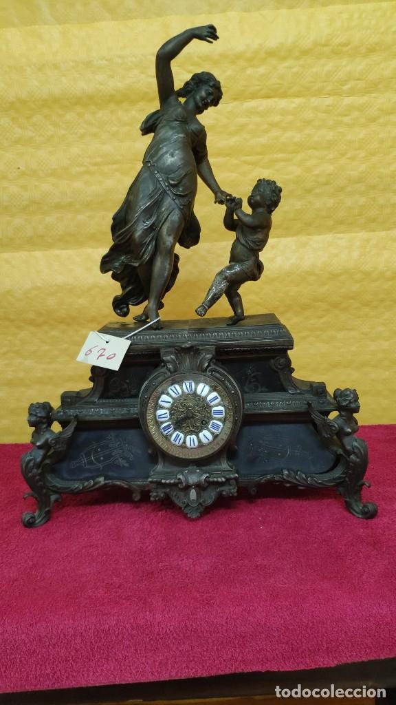 Relojes de carga manual: RELOJ DE SOBREMESA ESTILO IMPERIO SIGLO XIX, 6000-670 - Foto 2 - 45759697