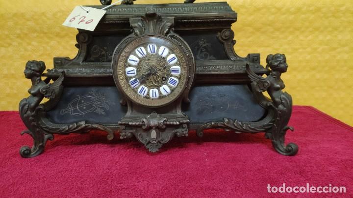 Relojes de carga manual: RELOJ DE SOBREMESA ESTILO IMPERIO SIGLO XIX, 6000-670 - Foto 3 - 45759697