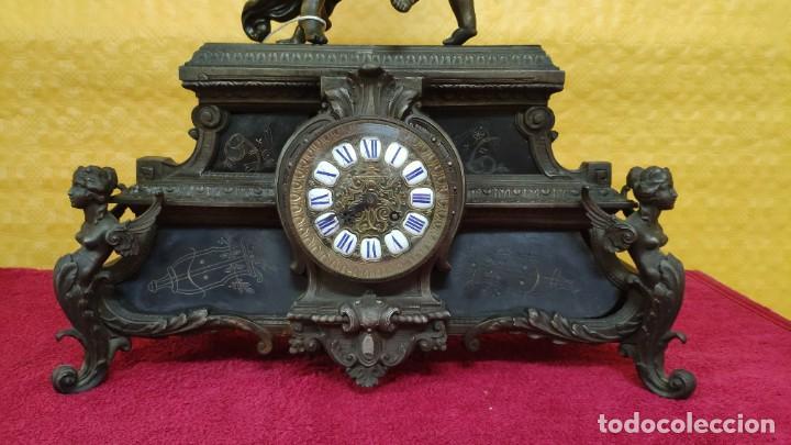 Relojes de carga manual: RELOJ DE SOBREMESA ESTILO IMPERIO SIGLO XIX, 6000-670 - Foto 4 - 45759697
