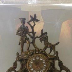 Relojes de carga manual: ANTIGUO RELOJ FRANCÉS BRONCE SOBREMESA PROCENDENTE DE IGLESIA SIGLO XIX. Lote 217999763
