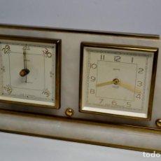 Relojes de carga manual: CONJUNTO DE RELOJ 8 DIAS SMITHS Y BAROMETRO -. Lote 218026483