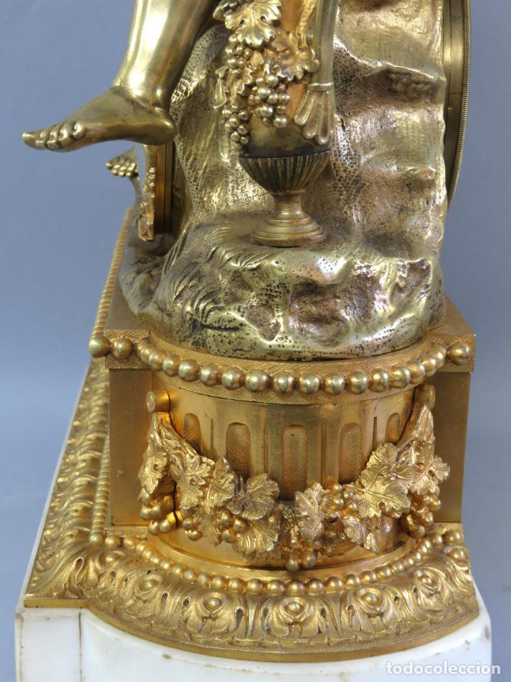 Relojes de carga manual: Reloj de sobremesa Napoleón III de cupidos en bronce dorado París porcelana Francia siglo XIX - Foto 25 - 218098693