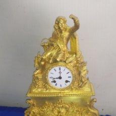 Relojes de carga manual: RELOJ ANTIGUO PRIMER IMPERIO BRONCE AL MERCURIO ORO FINO ORMOLU SUSPENSIÓN DE HILO. Lote 218644491