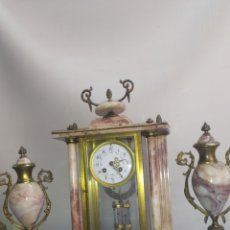 Relojes de carga manual: IMPRESIONANTE RELOJ FRANCÉS SONERIA GON PENDULO DE MERCURIO CIRCA 1850. Lote 218644667