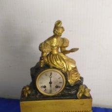 Relojes de carga manual: EXTRAORDINARIO RELOJ PRIMER IMPERIO BRONCE AL MERCURIO ORO FINO ORMOLU SUSPENSIÓN DE HILO. Lote 218645342