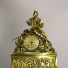 Relojes de carga manual: RELOJ PRIMER IMPERIO 1820 BRONCE AL MERCURIO ORO FINO ORMOLU. Lote 218645452