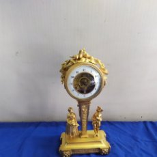 Relojes de carga manual: IMPORTANTE RELOJ PRIMER IMPERIO ESCAPE VISTO BRONCE AL MERCURIO ORO FINO 1820. Lote 218645845