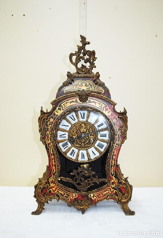 Relojes de carga manual: RELOJ ANTIGUO DE MESA ESTILO NAPOLEÓN III - Foto 2 - 218773977