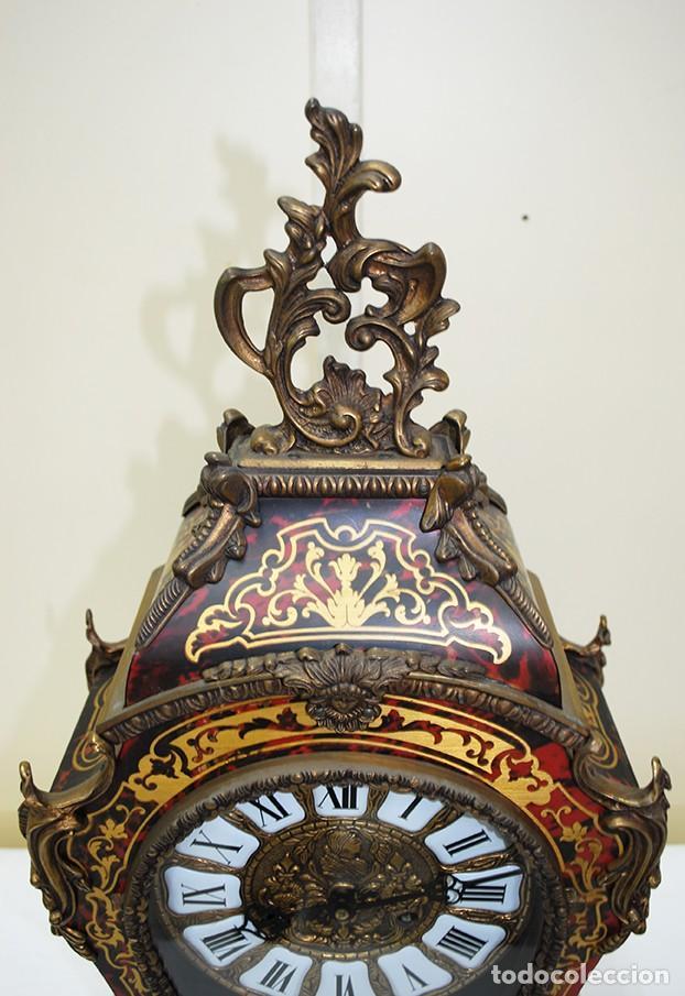 Relojes de carga manual: RELOJ ANTIGUO DE MESA ESTILO NAPOLEÓN III - Foto 4 - 218773977