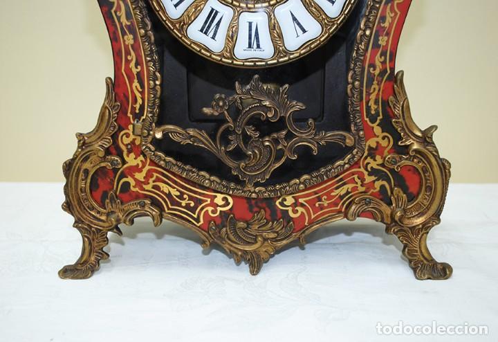 Relojes de carga manual: RELOJ ANTIGUO DE MESA ESTILO NAPOLEÓN III - Foto 7 - 218773977