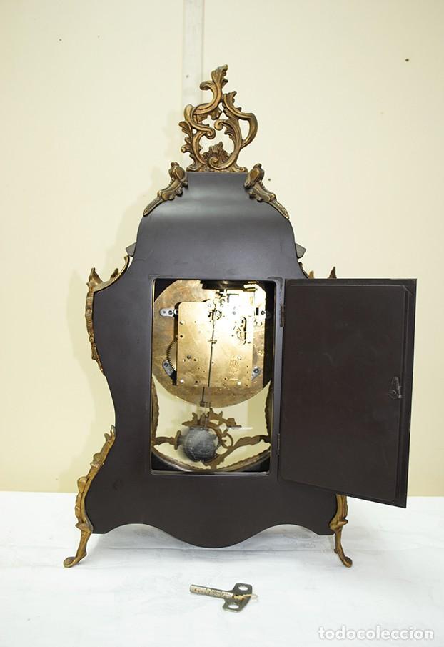 Relojes de carga manual: RELOJ ANTIGUO DE MESA ESTILO NAPOLEÓN III - Foto 15 - 218773977