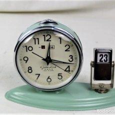Relógios de carga manual: RELOJ SOBREMESA CARGA MANUAL AÑOS 60. Lote 219042541