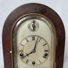 Relojes de carga manual: RARO RELOJ MINIATURA DE MESA ANTIGUO 1 MILLON LENZKIRCH GERMANY CARRILLON FUNCIONA 20 CM ALTO. Lote 219732003