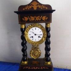 Relógios de carga manual: RELOJ ANTIGUO PÓRTICO MARQUETERÍA LIMONCILLO SIGLOXIX ALTA COLECCIÓN. Lote 220250415